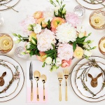 A BEAUTIFUL PASTEL SPRING TABLESCAPE